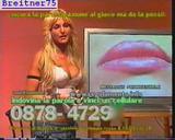 Italian Model Valeria Vittorini  - decollete - legs - miniskirt - in old video from Italian Tv