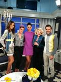 Morena Baccarin - TwitPic On the Set of &amp;quot;Fashion Police&amp;quot; - Dec 7, 2012