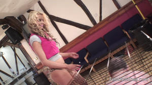 Femdom Shed: Caged and spat on