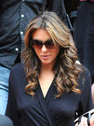 Elizabeth Hurley on the Gossip Girl Set in New York 7/28/11