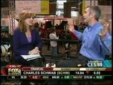 Liz Claman, Fox Business News - very short skirt and dark stockings (1-18-09)