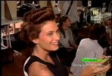 Rhea Durham at Versace 2000 backstage video